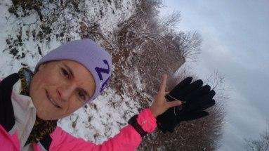 Winterlich vom Wanderweg aus