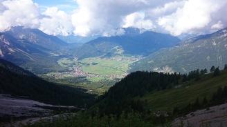 Blick zurück auf Ehrwald