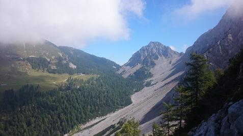 Blick Richtung Klagenfurter Hütte