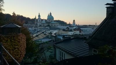 Panorama über Salzburg