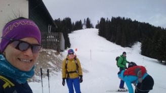 Start bei der Schwarzkogelhütte