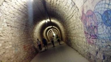 Abkühlung im Tunnel