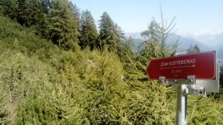 Zustieg Klettersteig