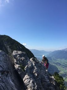 Wolfgangsee im Hintergrund