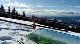 Blick Richtung Karawanken und Julische Alpen