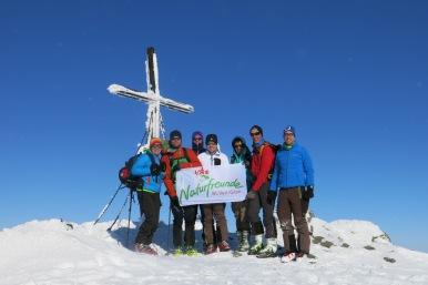 Gipfelfoto mit der Truppe
