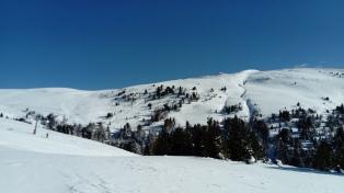 Blick ins Skigebiet Innerkrems