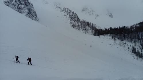 Blick Richtung Einstieg Klettersteig Hochstuhl