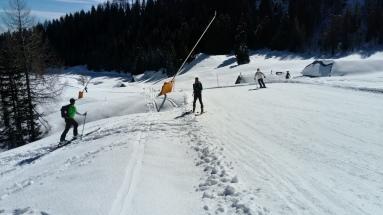 Mitten im Skigebiet