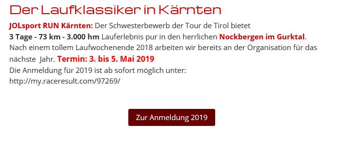 2019 Anmeldung offen